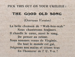 "Translated version of ""The Good Old Song,"" as printed in the invitation"