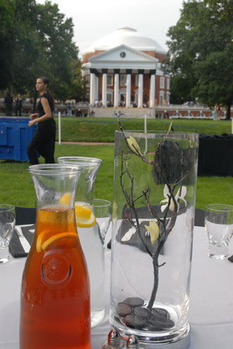 Getting ready for a reunions dinner on the Lawn
